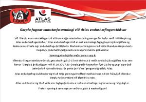 Gerpla & Atlas endurhæfing í samstarf